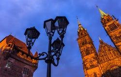 Νυρεμβέργη (Νυρεμβέργη), Γερμανία-ανώτατα ιστορικά κτήρια Στοκ Φωτογραφίες