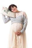 Νυσταλέα έγκυος γυναίκα έννοιας Στοκ εικόνα με δικαίωμα ελεύθερης χρήσης
