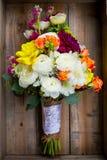 Νυφικά μικτά ανθοδέσμη λουλούδια Στοκ φωτογραφίες με δικαίωμα ελεύθερης χρήσης