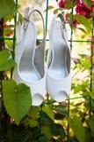 Νυφικά παπούτσια Στοκ Εικόνες