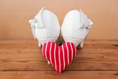 Νυφικά παπούτσια Στοκ Φωτογραφίες