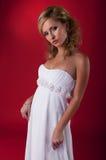 νυφικό λευκό φορεμάτων ν&upsilo στοκ εικόνα