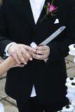 νυφικό μαχαίρι εκμετάλλε& Στοκ φωτογραφία με δικαίωμα ελεύθερης χρήσης