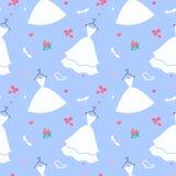 Νυφικό σχέδιο φορεμάτων άνευ ραφής διανυσματική απεικόνιση