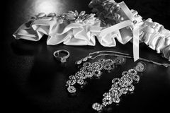 Νυφικό garter Στοκ Φωτογραφίες