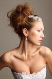 Νυφικό hairstyle Στοκ εικόνα με δικαίωμα ελεύθερης χρήσης
