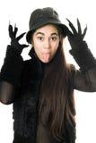 νυχιών γάντια κοριτσιών πο&upsi Στοκ φωτογραφία με δικαίωμα ελεύθερης χρήσης