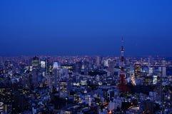 Νυχτερινή άποψη του πύργου του Τόκιο στο Τόκιο, Ιαπωνία Στοκ φωτογραφία με δικαίωμα ελεύθερης χρήσης