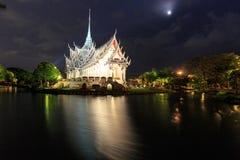 Νυχτερινή αρχαία πόλη ή αρχαίο Σιάμ Στοκ Φωτογραφία
