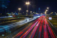 Νυχτερινή ζωή στη μαρίνα του Ντουμπάι. Ε.Α.Ε. Στις 14 Νοεμβρίου 2012 Στοκ Εικόνες