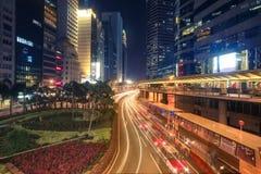 Νυχτερινή ζωή στο Χονγκ Κονγκ Στοκ Εικόνες