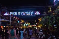 Νυχτερινή ζωή της Καμπότζης Στοκ φωτογραφία με δικαίωμα ελεύθερης χρήσης