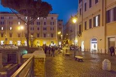 Νυχτερινή ζωή Largo Di Torre Αργεντινή στη Ρώμη Στοκ Φωτογραφία