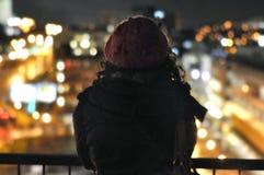 Νυχτερινή πόλη μαγική Στοκ φωτογραφία με δικαίωμα ελεύθερης χρήσης