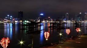 Νυχτερινή DA Nang στοκ εικόνες