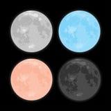 νυχτερινός ουρανός έναστρος αστέρια Διανυσματικό φεγγάρι Σύνολο ελεύθερη απεικόνιση δικαιώματος
