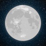 νυχτερινός ουρανός έναστρος αστέρια Διανυσματικό φεγγάρι απεικόνιση αποθεμάτων