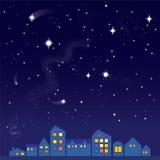 νυχτερινός ουρανός έναστρος διανυσματική απεικόνιση