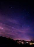 νυχτερινός ουρανός αστραπής απεικόνισης αφαίρεσης Στοκ Εικόνα