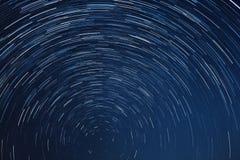 Νυχτερινός ουρανός ιχνών αστεριών Στοκ Εικόνες