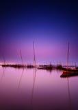 νυχτερινός ουρανός λιμνών Στοκ φωτογραφίες με δικαίωμα ελεύθερης χρήσης