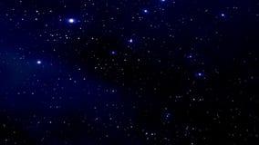 Νυχτερινός ουρανός με τα αστράφτοντας αστέρια απόθεμα βίντεο