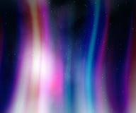Νυχτερινός ουρανός με τα φω'τα αυγής Στοκ Φωτογραφίες