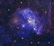 Νυχτερινός ουρανός με το υπόβαθρο νεφελώματος αστεριών σύννεφων Στοιχεία της εικόνας που εφοδιάζονται από τη NASA Στοκ εικόνες με δικαίωμα ελεύθερης χρήσης
