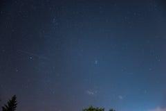 Νυχτερινός ουρανός πέρα από την Αυστρία Στοκ Φωτογραφία