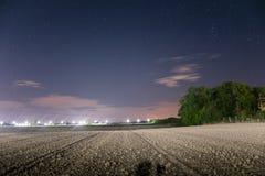 Νυχτερινός ουρανός πέρα από την Αυστρία Στοκ φωτογραφίες με δικαίωμα ελεύθερης χρήσης