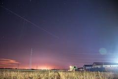 Νυχτερινός ουρανός πέρα από την Αυστρία Στοκ Εικόνα
