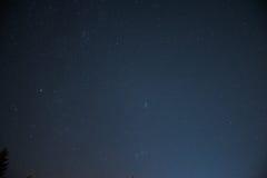 Νυχτερινός ουρανός πέρα από την Αυστρία Στοκ φωτογραφία με δικαίωμα ελεύθερης χρήσης