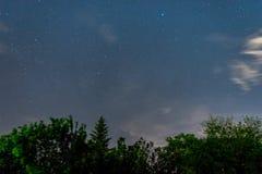Νυχτερινός ουρανός πέρα από την Αυστρία Στοκ Φωτογραφίες