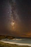 Νυχτερινός ουρανός πέρα από τη βόρεια Ουαλία Στοκ φωτογραφίες με δικαίωμα ελεύθερης χρήσης