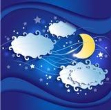 Νυχτερινός ουρανός τρισδιάστατος Στοκ Φωτογραφία
