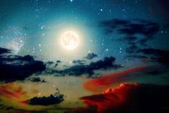 Νυχτερινός ουρανός υποβάθρων Στοκ Εικόνες
