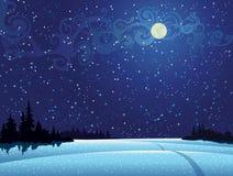 νυχτερινός ουρανός 02 Ελεύθερη απεικόνιση δικαιώματος