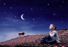 νυχτερινός ουρανός Στοκ φωτογραφίες με δικαίωμα ελεύθερης χρήσης