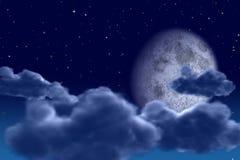 νυχτερινός ουρανός απεικόνιση αποθεμάτων