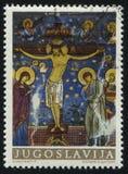 Νωπογραφία από το μοναστήρι Στοκ εικόνα με δικαίωμα ελεύθερης χρήσης