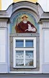 Νωπογραφία ενός ποιμένα με ένα αρνί Στοκ εικόνα με δικαίωμα ελεύθερης χρήσης