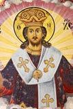 νωπογραφία Ιησούς Χριστ&omicron Στοκ εικόνα με δικαίωμα ελεύθερης χρήσης