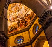 Νωπογραφία Ιησούς Dome Duomo Cathedral Φλωρεντία Ιταλία Vasari αψίδων στοκ φωτογραφία με δικαίωμα ελεύθερης χρήσης