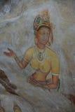 Νωπογραφία κοριτσιών Sigiriya Στοκ Φωτογραφίες