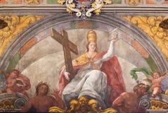 Νωπογραφία στην εκκλησία του Άγιου Βασίλη και το μάρτυρα του ST Peter στη Βαλένθια Στοκ φωτογραφία με δικαίωμα ελεύθερης χρήσης
