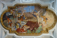 Νωπογραφία στην εκκλησία Αγίου Peter στις αλυσίδες στη Ρώμη Ιταλία στοκ φωτογραφίες με δικαίωμα ελεύθερης χρήσης