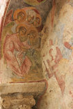 Νωπογραφία στην εκκλησία του Άγιου Βασίλη Στοκ Εικόνες