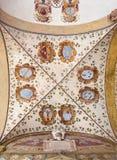 Νωπογραφία της Μπολόνιας - Ceilinig στο εξωτερικό αίθριο Archiginnasio Στοκ φωτογραφία με δικαίωμα ελεύθερης χρήσης