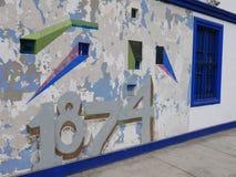 Νωπογραφία τοίχων στην περιοχή Barranco της Λίμα, Περού Στοκ εικόνες με δικαίωμα ελεύθερης χρήσης