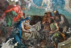 νωπογραφία Χριστουγέννων Στοκ φωτογραφία με δικαίωμα ελεύθερης χρήσης